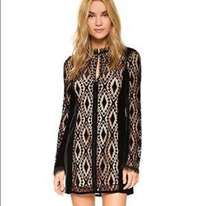 Nanette Lepore Black Lace & Velvet Dress NWOT Sz 6